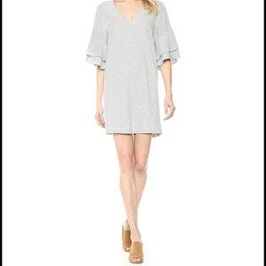 Like new Lucky Brand Striped Ruffle Sleeve Dress M